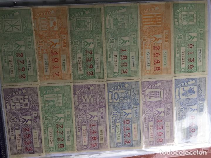 Cupones ONCE: COLECCIÓN DE 186 CUPONES AÑO 1985 - Foto 3 - 231225190