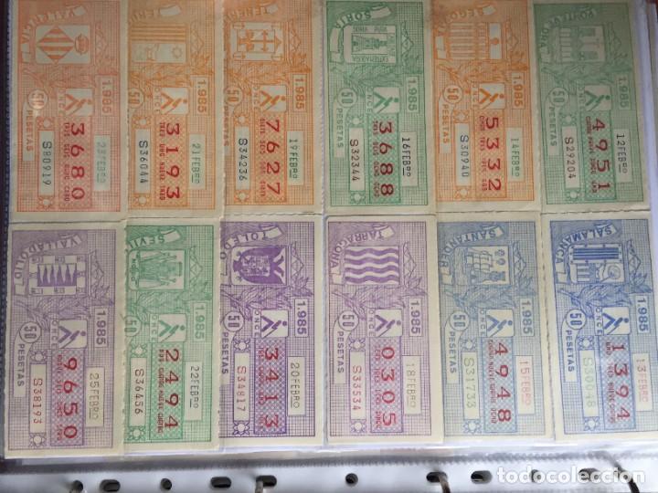 Cupones ONCE: COLECCIÓN DE 186 CUPONES AÑO 1985 - Foto 4 - 231225190