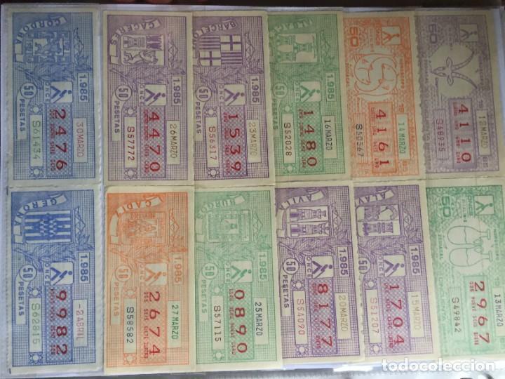 Cupones ONCE: COLECCIÓN DE 186 CUPONES AÑO 1985 - Foto 6 - 231225190