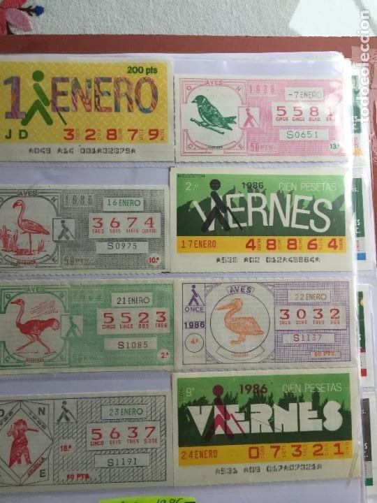 COLECCIÓN DE 202 CUPONES AÑO 1986 (Coleccionismo - Lotería - Cupones ONCE)