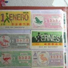 Cupones ONCE: COLECCIÓN DE 202 CUPONES AÑO 1986. Lote 231225915