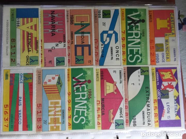 Cupones ONCE: COLECCIÓN DE 202 CUPONES AÑO 1986 - Foto 4 - 231225915