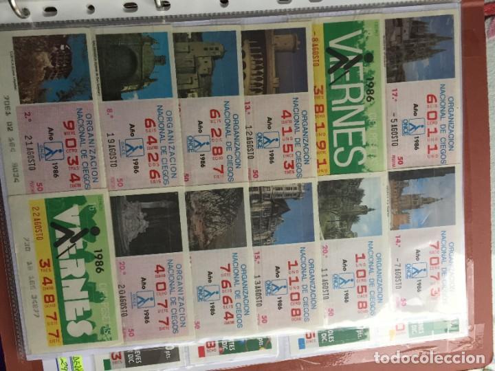 Cupones ONCE: COLECCIÓN DE 202 CUPONES AÑO 1986 - Foto 10 - 231225915