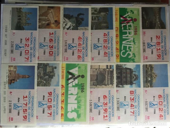 Cupones ONCE: COLECCIÓN DE 202 CUPONES AÑO 1986 - Foto 12 - 231225915