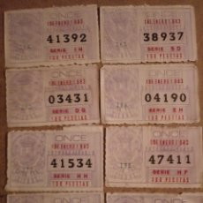 Cupones ONCE: 8 CUPONES ONCE DE 1 ENERO 1983. Lote 233886110