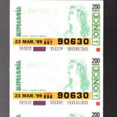 Cupones ONCE: 4 CUPONES DE LA ONCE - 23 DE MARZO DE 1999 - MITOLOGIA -. Lote 235200665