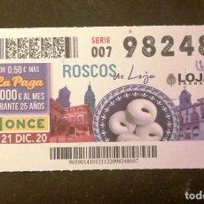 Billets ONCE: Nº 98248 (21/DICIEMBRE/2020)-GRANADA. Lote 235349700