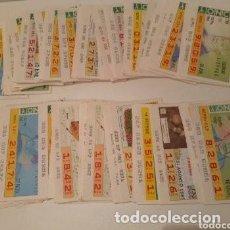 Cupones ONCE: MÁS DE 150 CUPONES ONCE, AÑOS 1987, 1988, 1989. Lote 235406985