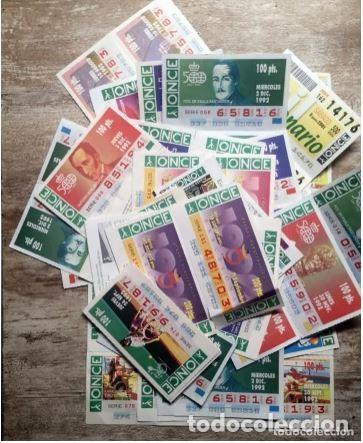 MAS DE CIEN CUPONES, LOTERÍA ONCE (Coleccionismo - Lotería - Cupones ONCE)