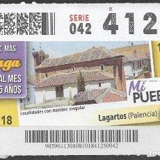 Billets ONCE: ONCE,MI PUEBLO,08/11/2018.. Lote 236221925