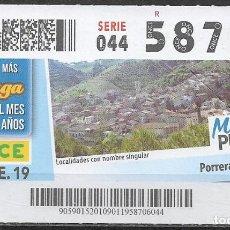 Billets ONCE: ONCE,MI PUEBLO,09/01/2019.. Lote 236422425