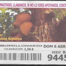Cupones ONCE: OID,SETAS,06/04/2003.. Lote 236791350