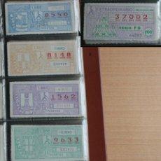 Cupones ONCE: COLECCION DE 1985 DE 293 CUPONES DE LA ONCE. Lote 237170610