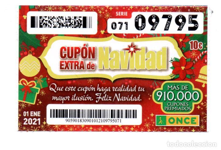 CUPÓN EXTRA DE NAVIDAD DE LA ONCE DEL 1 DE ENERO DE 2021 - (Coleccionismo - Lotería - Cupones ONCE)