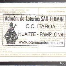 Billets ONCE: LOTERÍA NACIONAL - ADMINISTRACIÓN DE HUARTE (NAVARRA) - SORTEO 102/20 -. Lote 242924590