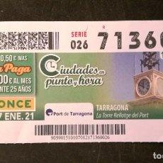 Cupones ONCE: Nº 71360 (7/ENERO/2021). Lote 244518330
