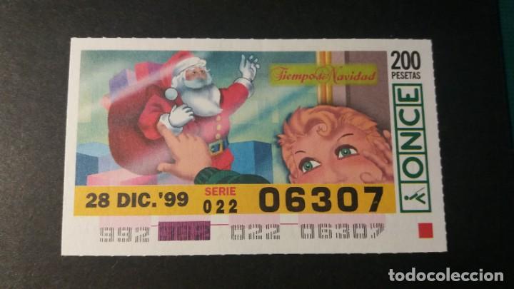 CUPÓN ONCE. TIEMPO DE NAVIDAD. 28 DE DICIEMBRE DE 1999. Nº 06307. (Coleccionismo - Lotería - Cupones ONCE)
