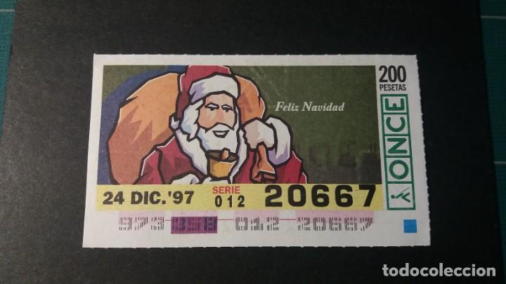 CUPÓN ONCE. FELIZ NAVIDAD 24 DE DICIEMBRE DE 1997. Nº 20667. (Coleccionismo - Lotería - Cupones ONCE)