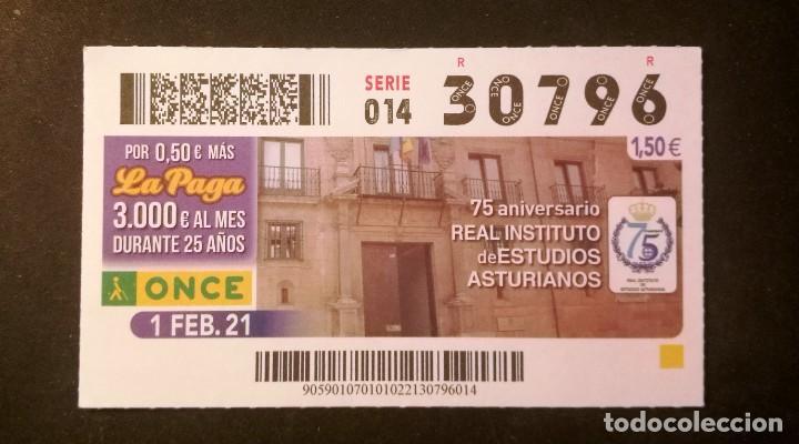 Nº 30796 (1/FEBRERO/2021)-ASTURIAS (Coleccionismo - Lotería - Cupones ONCE)