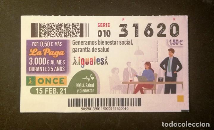 Nº 31620 (15/FEBRERO/2021) (Coleccionismo - Lotería - Cupones ONCE)