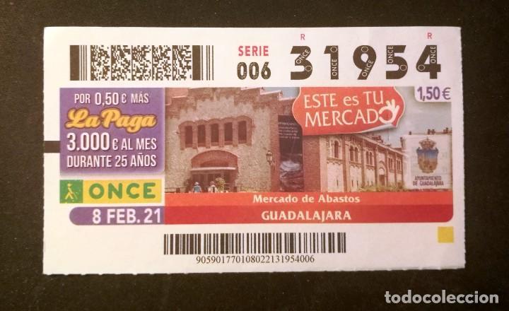 Nº 31954 (8/FEBRERO/2021)-GUADALAJARA (Coleccionismo - Lotería - Cupones ONCE)
