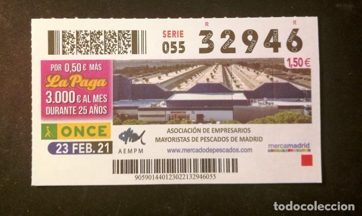 Nº 32946 (23/FEBRERO/2021)-MADRID (Coleccionismo - Lotería - Cupones ONCE)