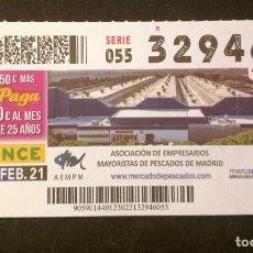 Cupones ONCE: Nº 32946 (23/FEBRERO/2021)-MADRID. Lote 246326010