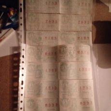 Cupones ONCE: LOTE 18 CUPONES ONCE JUNIO 1984 CORRELATIVOS. Lote 251517085