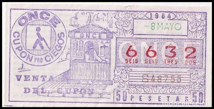CUPON ONCE AÑO 1984 SORTEO 8 MAYO (Coleccionismo - Lotería - Cupones ONCE)