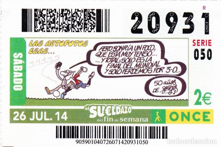 2014 - CUPON ONCE - LAS AUTOFOTOS ESAS... - 50 AÑOS DE FORGES - Nº 20931 (Coleccionismo - Lotería - Cupones ONCE)
