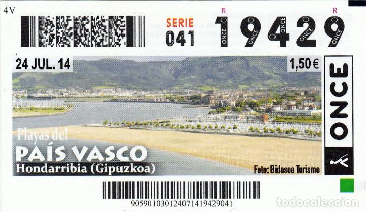 2014 - CUPON ONCE - PLAYAS DEL PAIS VASCO - HONDARRIBIA - GIPUZKOA - Nº 19429 (Coleccionismo - Lotería - Cupones ONCE)
