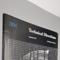 Cupones ONCE: IBM TECHNICAL DIRECTIONS SEPTEMBER 1978. Lote 258320795