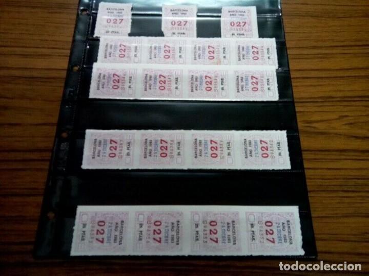 PAGINA CON 35 NUMEROS ONCE DE TRES CIFRAS AÑOS 70/80 (Coleccionismo - Lotería - Cupones ONCE)