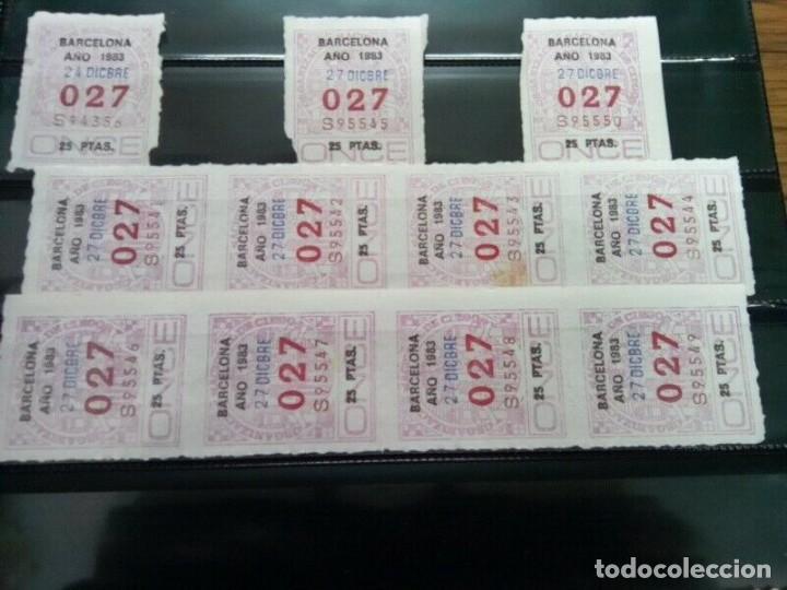 Cupones ONCE: PAGINA CON 35 NUMEROS ONCE DE TRES CIFRAS AÑOS 70/80 - Foto 3 - 263034340