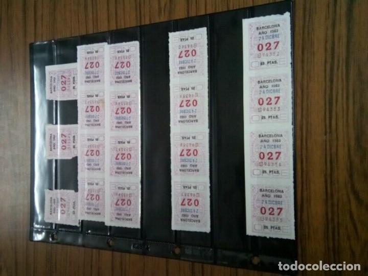 Cupones ONCE: PAGINA CON 35 NUMEROS ONCE DE TRES CIFRAS AÑOS 70/80 - Foto 4 - 263034340