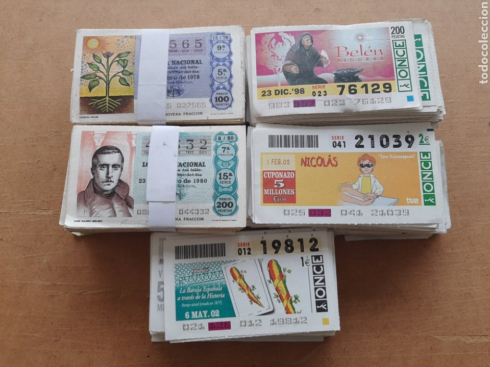 LOTE DE CUPONES DE LA ONCE (Coleccionismo - Lotería - Cupones ONCE)