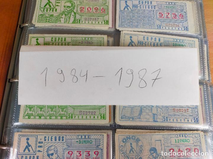Cupones ONCE: COLECCION COMPLETA CUPONES ONCE CAPICUAS 1984 AL 1987 UN CUPON POR SORTEO - Foto 4 - 265700389
