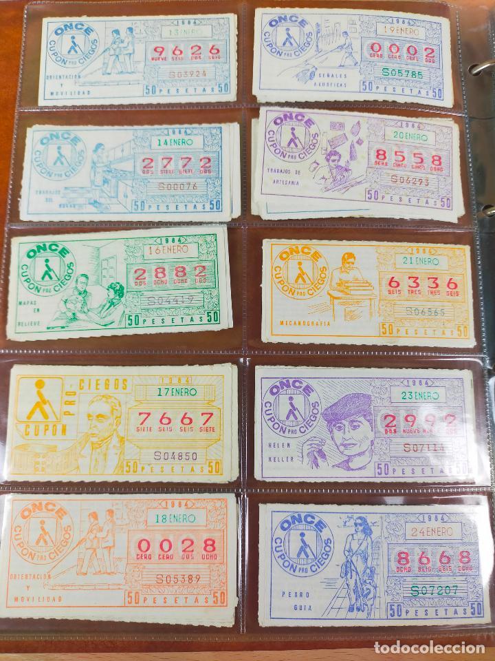 Cupones ONCE: COLECCION COMPLETA CUPONES ONCE CAPICUAS 1984 AL 1987 UN CUPON POR SORTEO - Foto 6 - 265700389