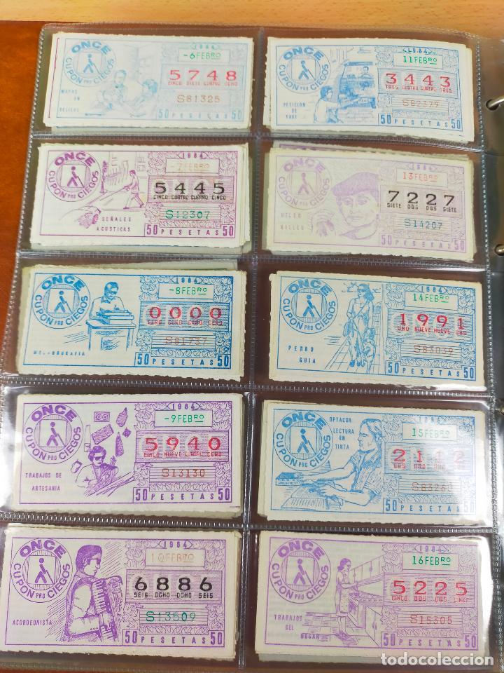 Cupones ONCE: COLECCION COMPLETA CUPONES ONCE CAPICUAS 1984 AL 1987 UN CUPON POR SORTEO - Foto 8 - 265700389