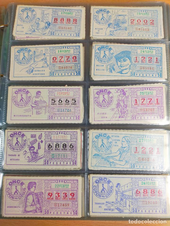 Cupones ONCE: COLECCION COMPLETA CUPONES ONCE CAPICUAS 1984 AL 1987 UN CUPON POR SORTEO - Foto 9 - 265700389