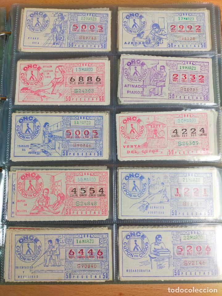 Cupones ONCE: COLECCION COMPLETA CUPONES ONCE CAPICUAS 1984 AL 1987 UN CUPON POR SORTEO - Foto 11 - 265700389