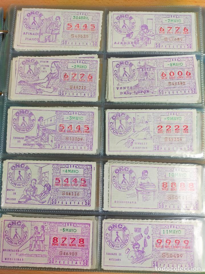 Cupones ONCE: COLECCION COMPLETA CUPONES ONCE CAPICUAS 1984 AL 1987 UN CUPON POR SORTEO - Foto 15 - 265700389