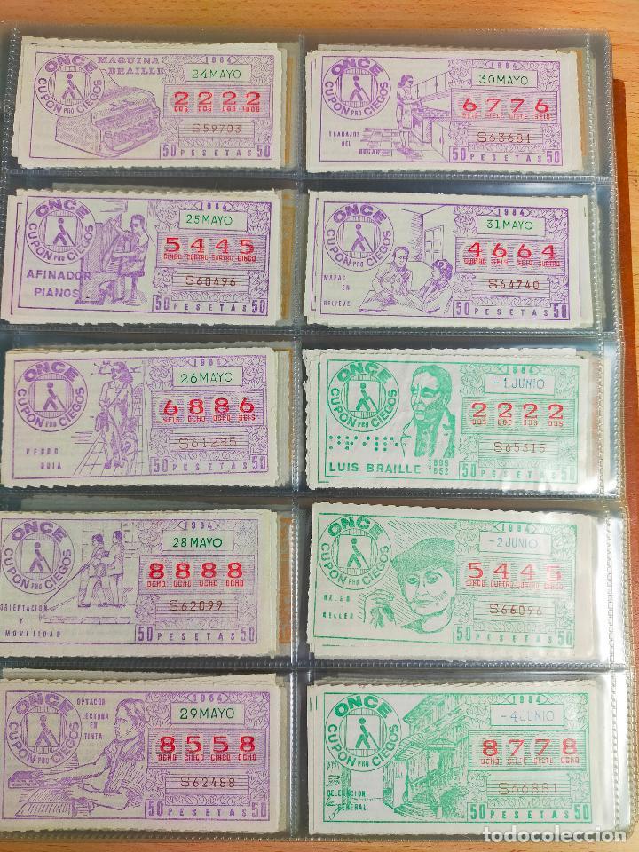 Cupones ONCE: COLECCION COMPLETA CUPONES ONCE CAPICUAS 1984 AL 1987 UN CUPON POR SORTEO - Foto 17 - 265700389