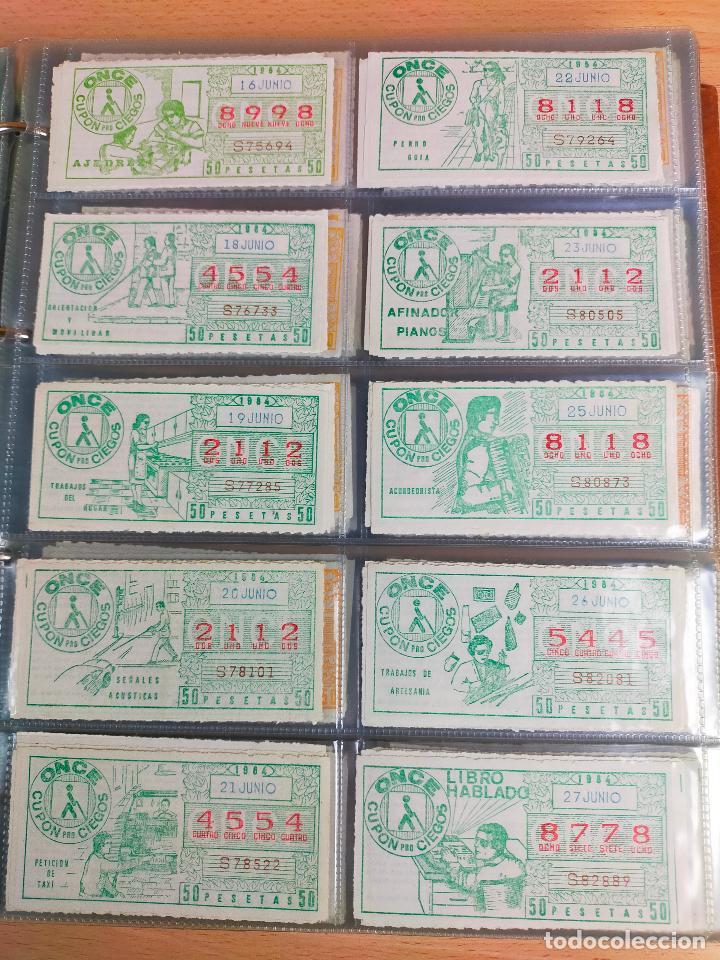 Cupones ONCE: COLECCION COMPLETA CUPONES ONCE CAPICUAS 1984 AL 1987 UN CUPON POR SORTEO - Foto 19 - 265700389