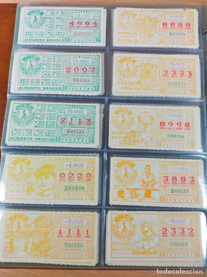 Cupones ONCE: COLECCION COMPLETA CUPONES ONCE CAPICUAS 1984 AL 1987 UN CUPON POR SORTEO - Foto 20 - 265700389
