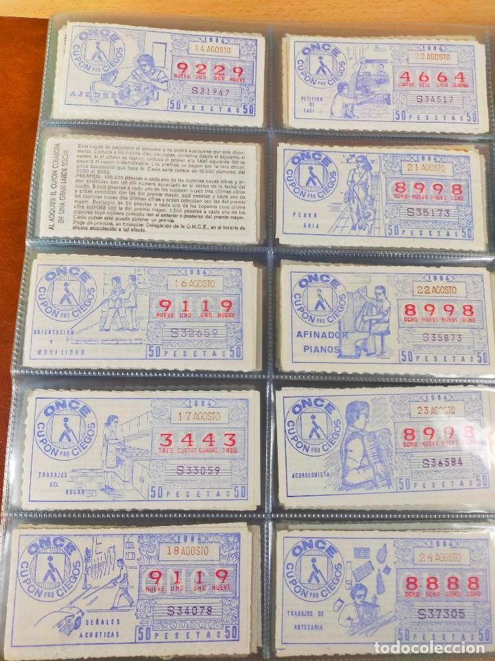 Cupones ONCE: COLECCION COMPLETA CUPONES ONCE CAPICUAS 1984 AL 1987 UN CUPON POR SORTEO - Foto 24 - 265700389