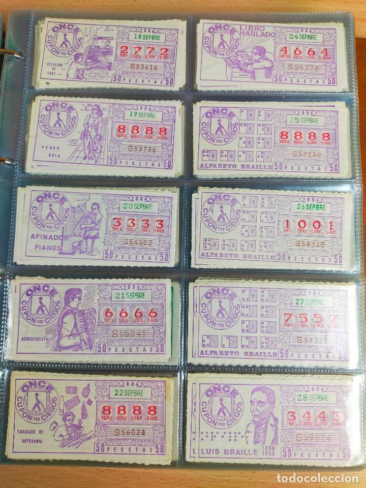 Cupones ONCE: COLECCION COMPLETA CUPONES ONCE CAPICUAS 1984 AL 1987 UN CUPON POR SORTEO - Foto 27 - 265700389