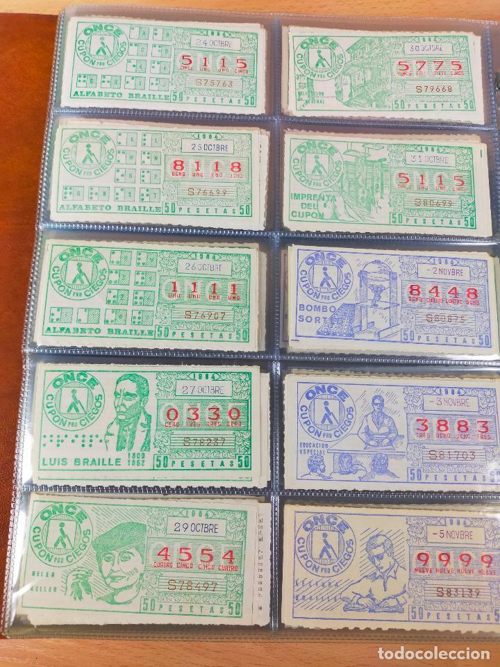 Cupones ONCE: COLECCION COMPLETA CUPONES ONCE CAPICUAS 1984 AL 1987 UN CUPON POR SORTEO - Foto 29 - 265700389