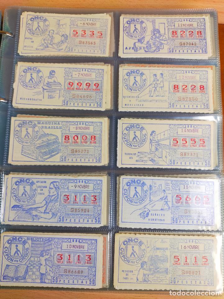 Cupones ONCE: COLECCION COMPLETA CUPONES ONCE CAPICUAS 1984 AL 1987 UN CUPON POR SORTEO - Foto 30 - 265700389