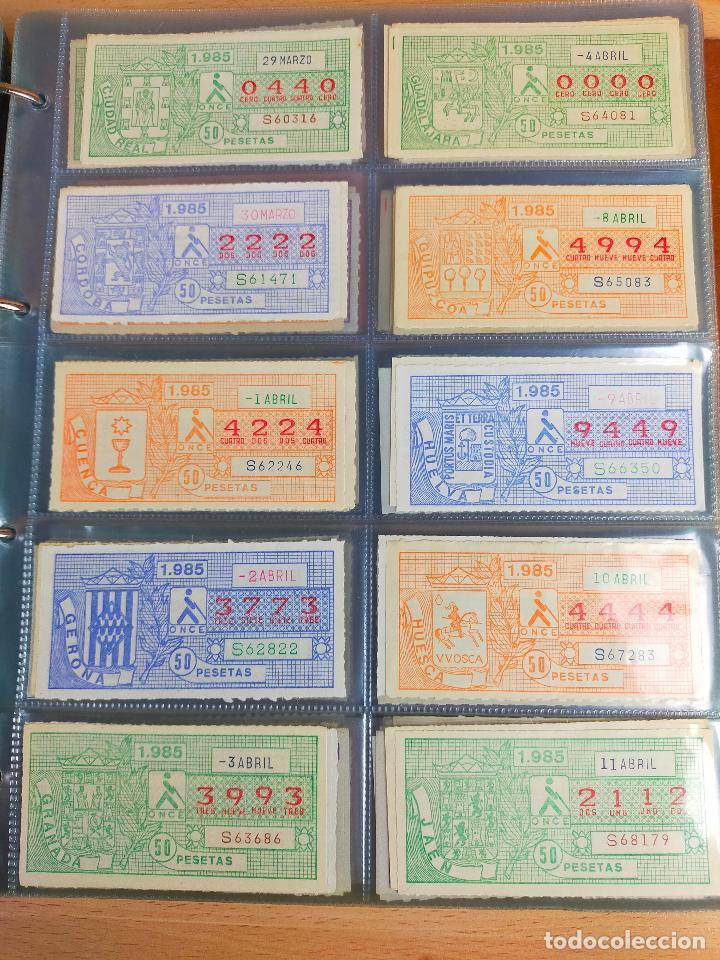 Cupones ONCE: COLECCION COMPLETA CUPONES ONCE CAPICUAS 1984 AL 1987 UN CUPON POR SORTEO - Foto 43 - 265700389